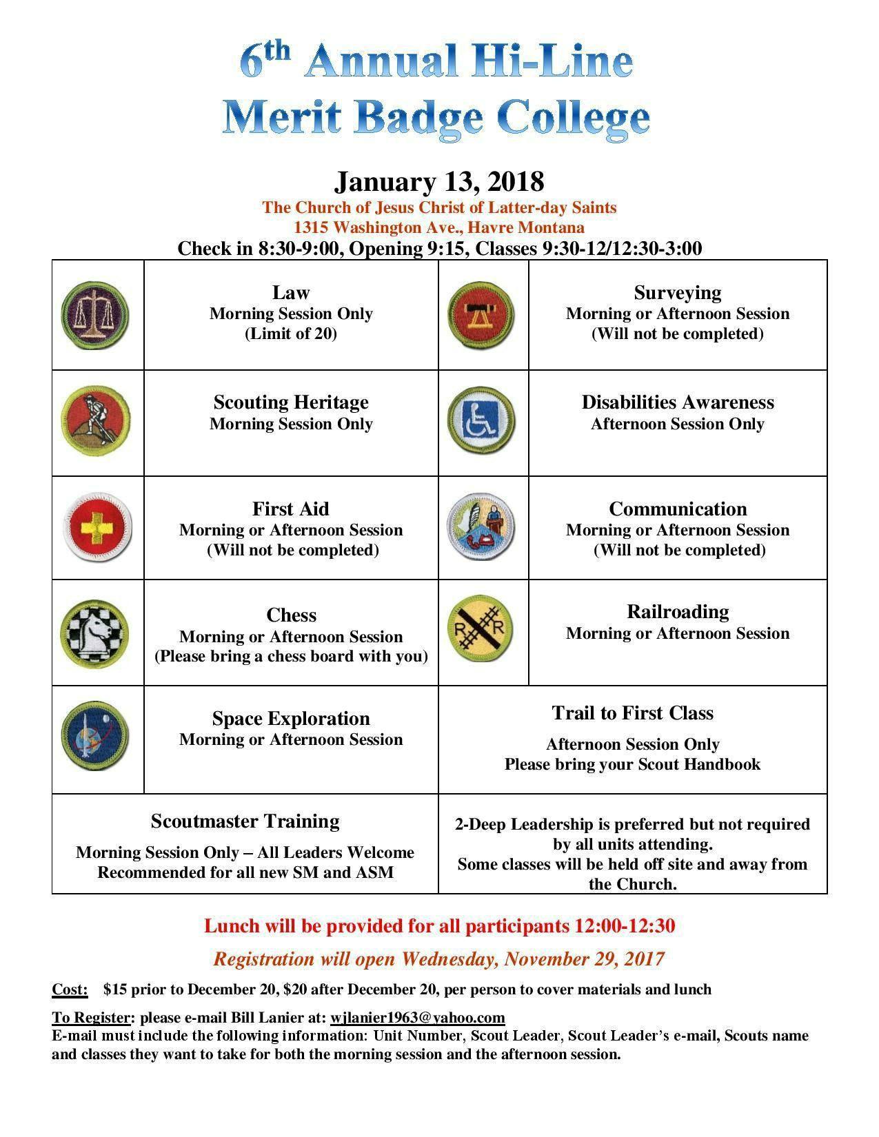 Michigan Crossroads Council - Merit Badge College- Kettering ...